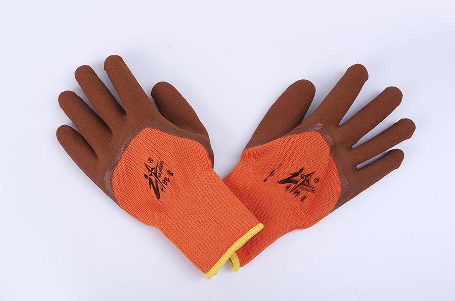 尼龙耐磨防滑丁晴浸胶手套