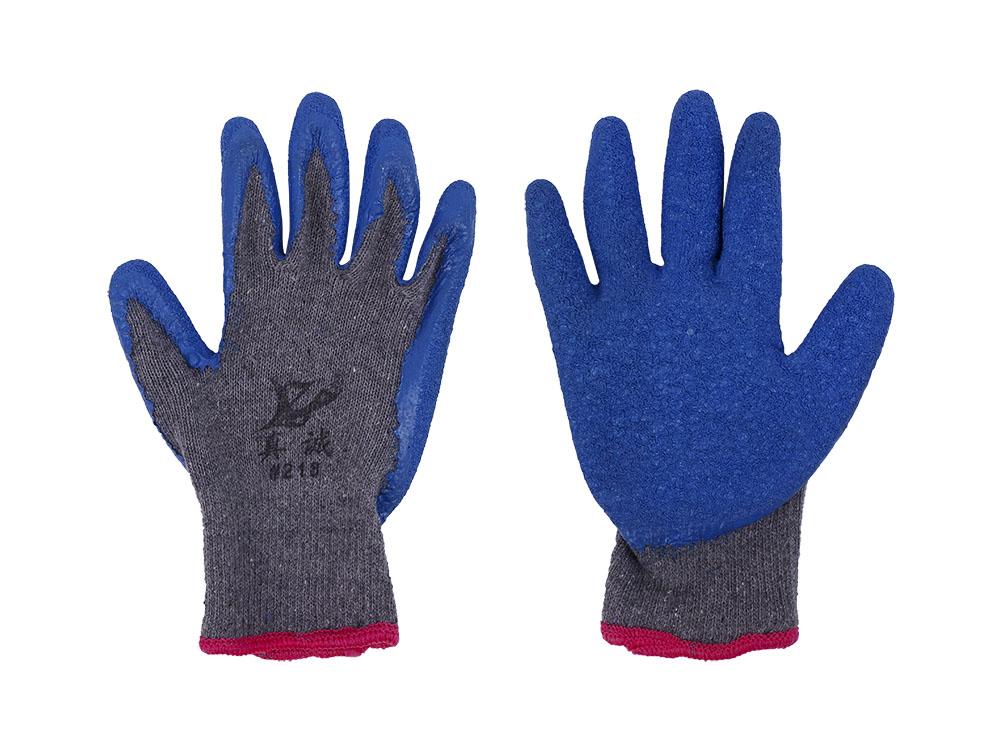 防滑耐磨劳保磨砂浸胶手套