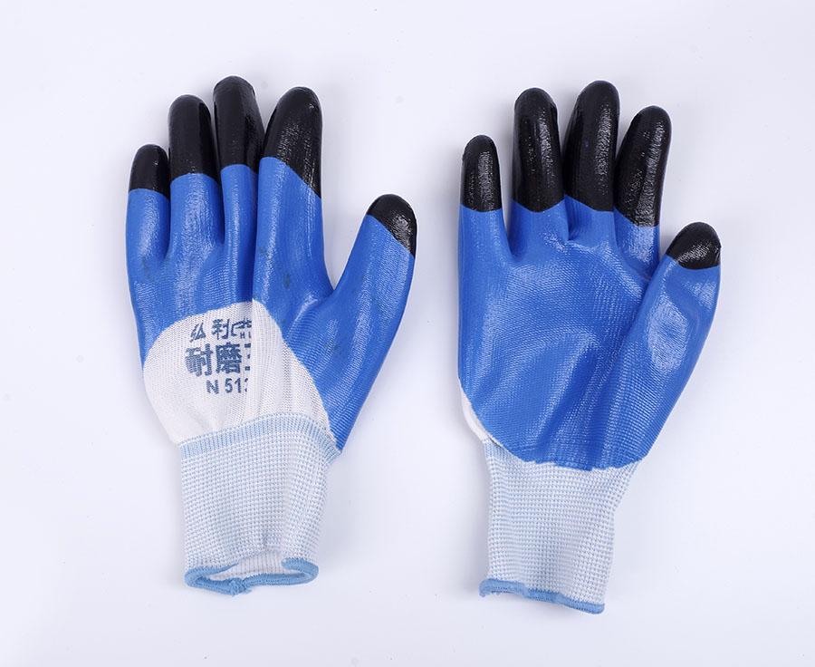 丁腈浸胶耐磨防滑手套