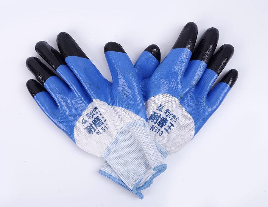 耐磨防滑耐酸碱浸胶薄手套
