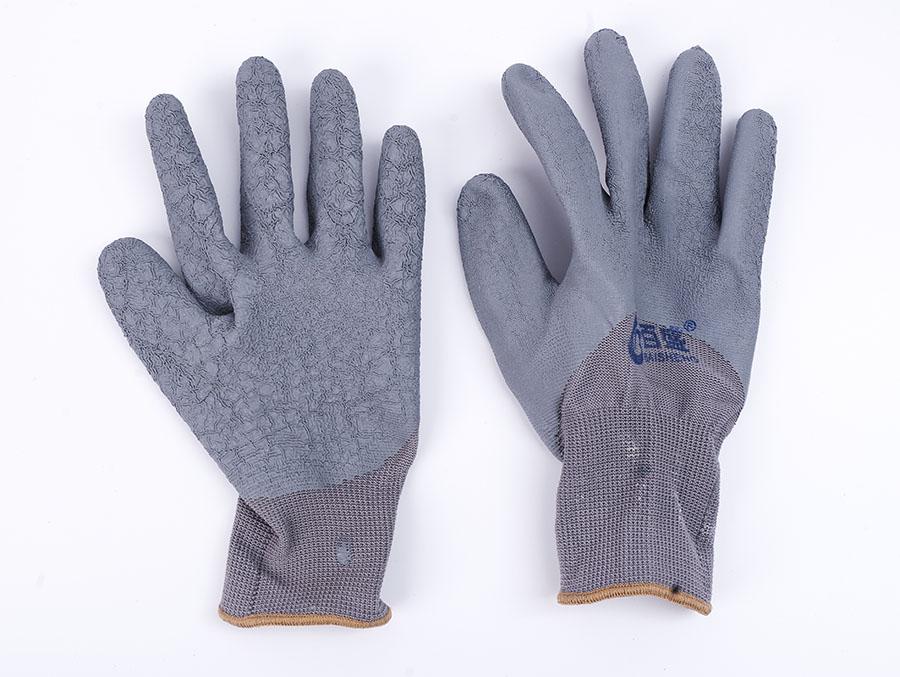 浸胶皱纹加厚防滑耐磨手套