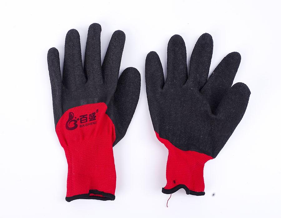 浸胶皱纹防滑手套