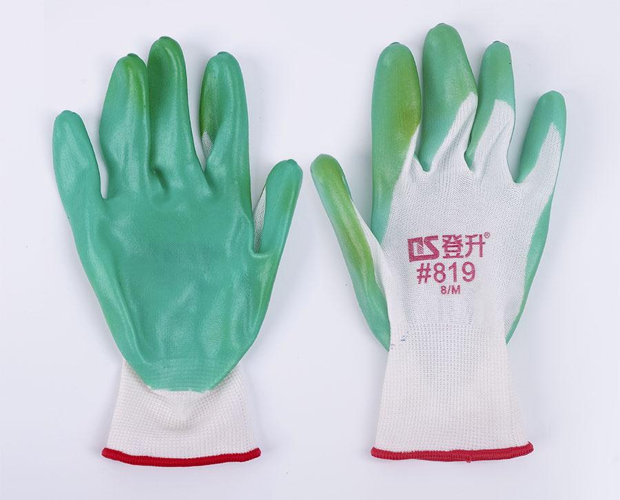 磨砂浸胶手套