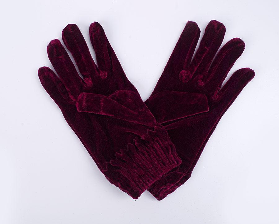 天鹅绒保暖手套