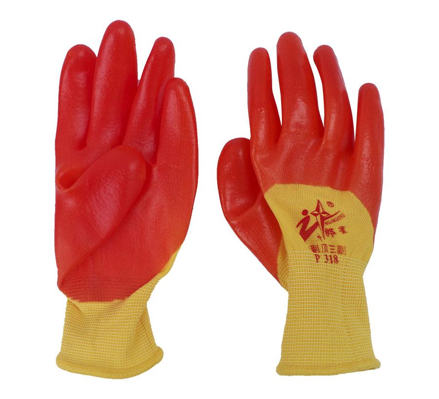 丁腈浸胶薄款防护手套