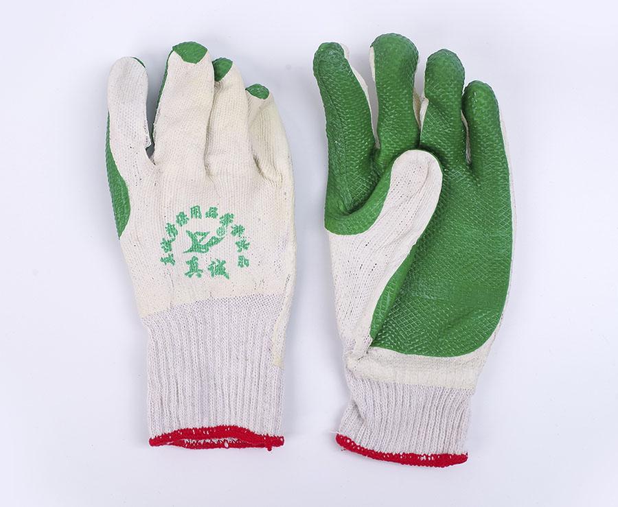 尼龙涂胶皱纹防滑手套