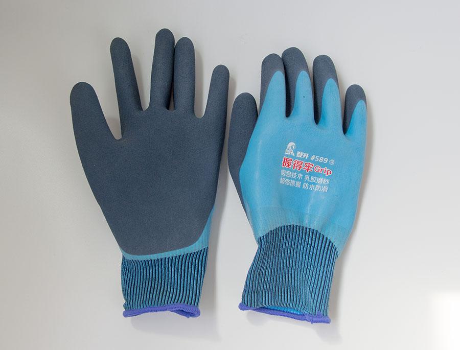 发泡浸胶耐磨工业劳保手套