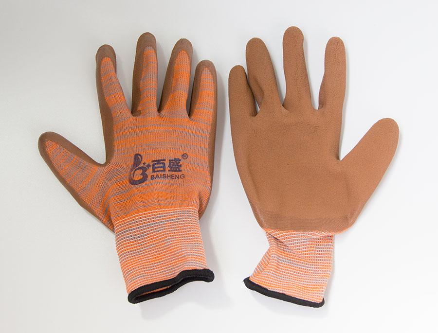 防滑耐磨透气涂胶发泡手套