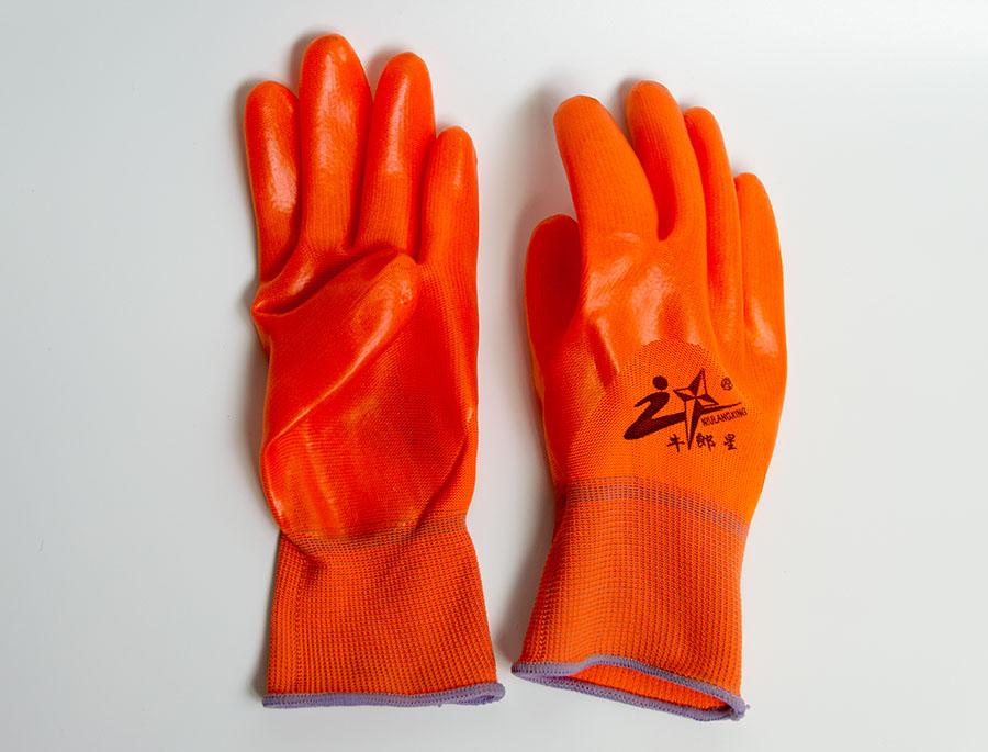 PVC浸胶耐磨耐用防水滑手套