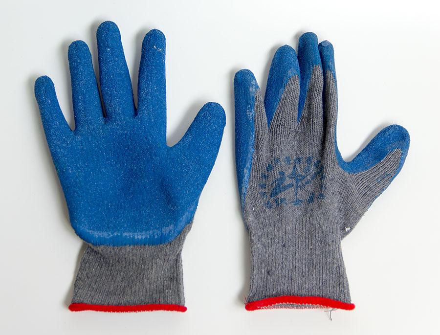 加厚浸胶工地防水防割手套