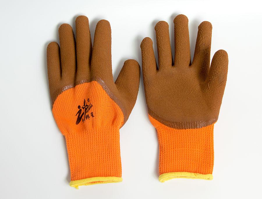 棉线浸胶皱纹手套