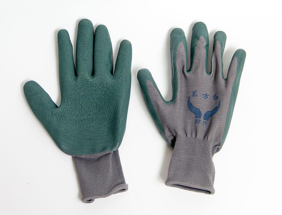 加厚皱纹防滑耐磨柔软胶皮手套